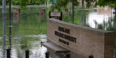 Here is a view of Sewell Park in San Marcos, Texas after the flood (Photo courtesy of City of San Marcos).